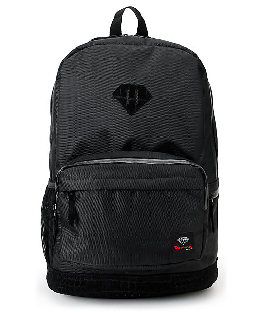 Diamond Supply Co. Diamond Black Croc School Life Backpack