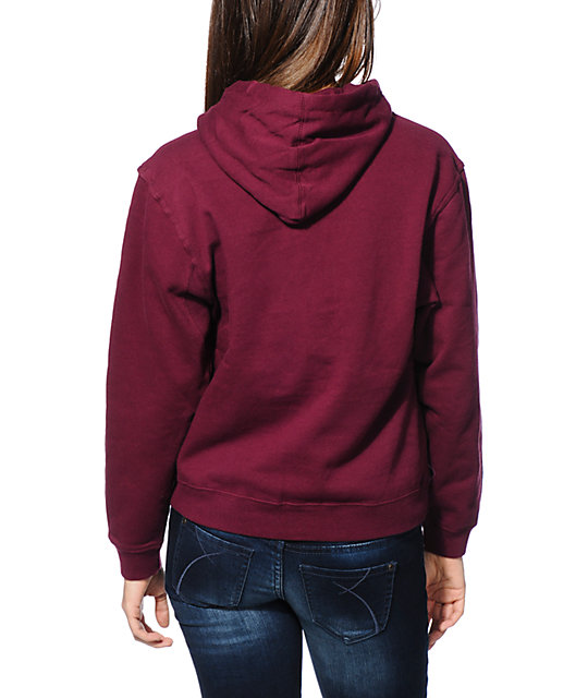 Diamond Supply Co. Diamond Everything Maroon Pullover Hoodie