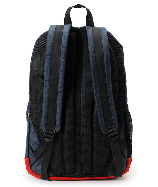 Diamond Supply Co. Diamond Navy & Red Croc School Life Backpack