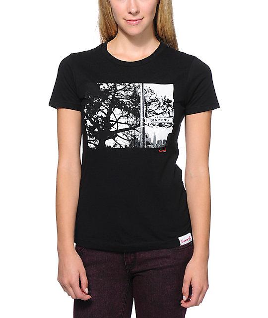 Diamond Supply Co. Diamond Street Black Scoop Neck T-Shirt