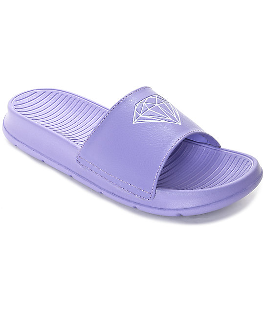 Diamond Supply Co. Fairfax Violet Tulip Slide Sandals