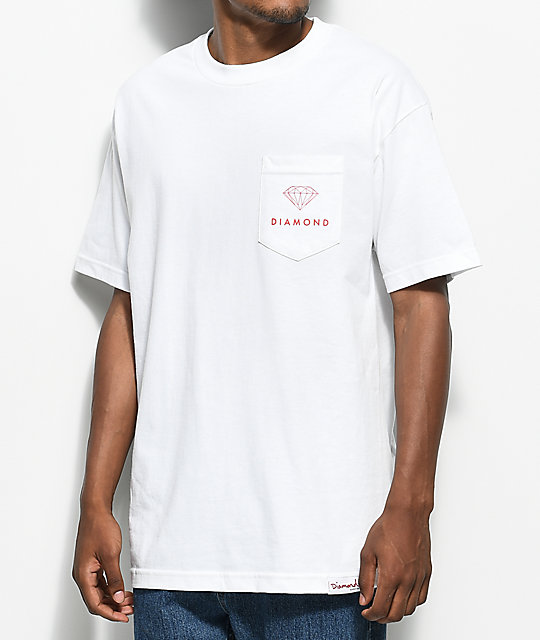 Diamond Supply Co. Futura Sign White Pocket T-Shirt