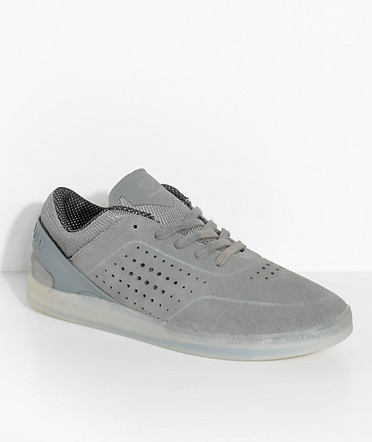 Diamond Supply Co. Graphite Dark Grey & Ice Suede Skate Shoes
