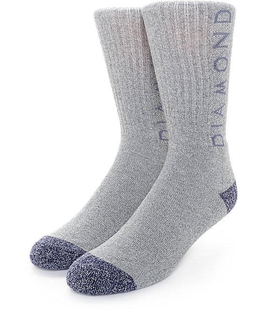Diamond Supply Co. Heather Hi Grey Crew Socks
