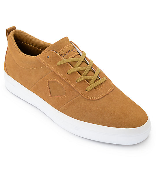 Diamond Supply Co. Icon Light Brown Suede Skate Shoes