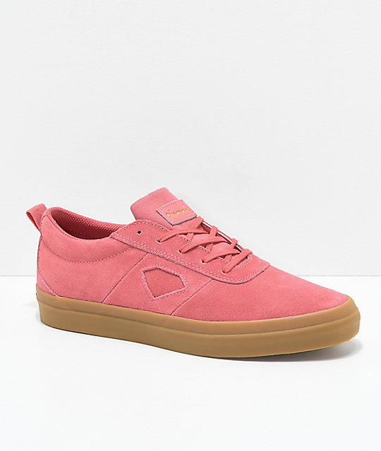 Diamond Supply Co. Icon Salmon and Gum Suede Skate Shoes