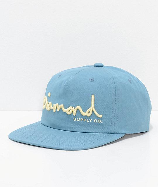 Diamond Supply Co. OG Script Unstructured Black Snapback Hat