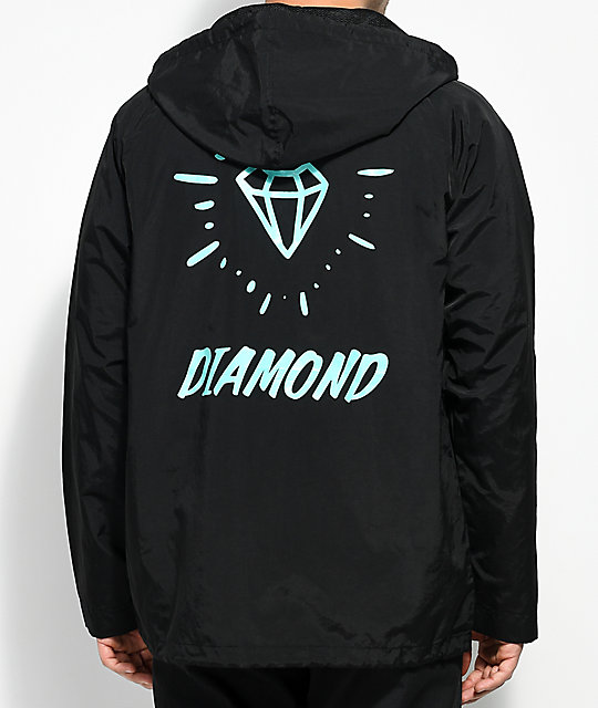 Diamond Supply Co. Outshine Black & Teal Coaches Jacket