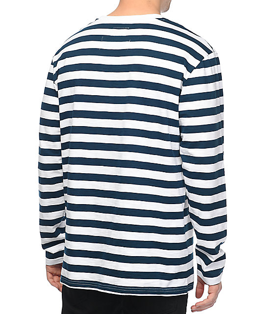 Diamond Supply Co. Pablo Striped Navy & White Long Sleeve T-Shirt