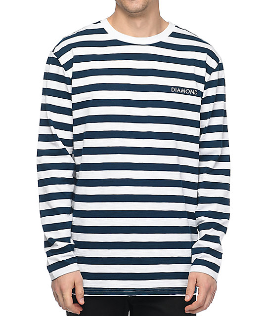 Supply Co. Pablo Striped Navy & White Long Sleeve T-Shirt