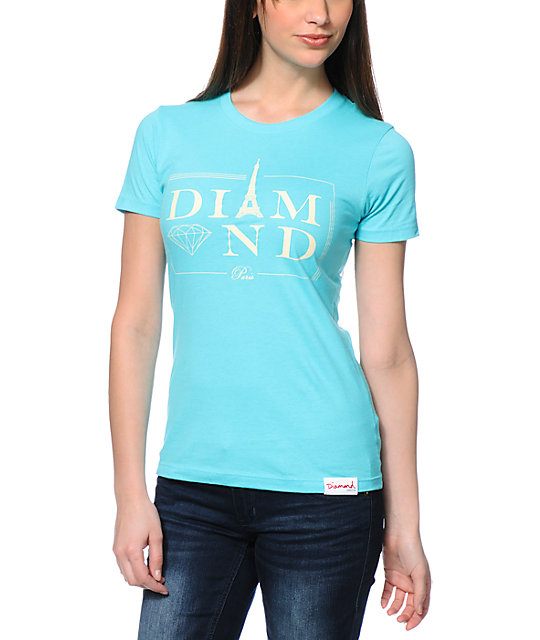 Diamond Supply Co. Paris Light Blue T-Shirt