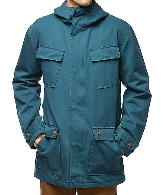 Diamond Supply Co. Recon Fishtail Teal Parka Jacket | Zumiez
