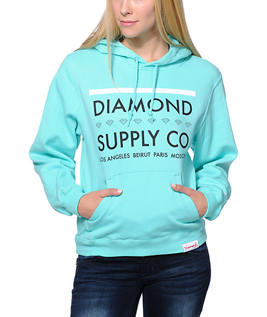 Diamond Supply Co. Roots Mint Blue Pullover Hoodie