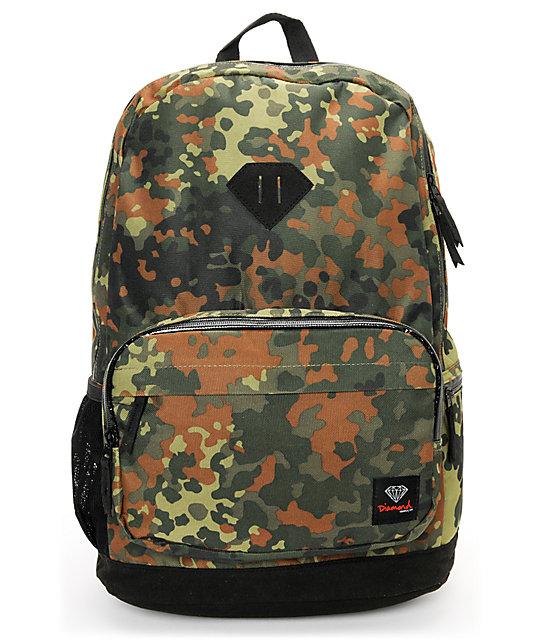 Diamond Supply Co. School Life Camo Laptop Backpack