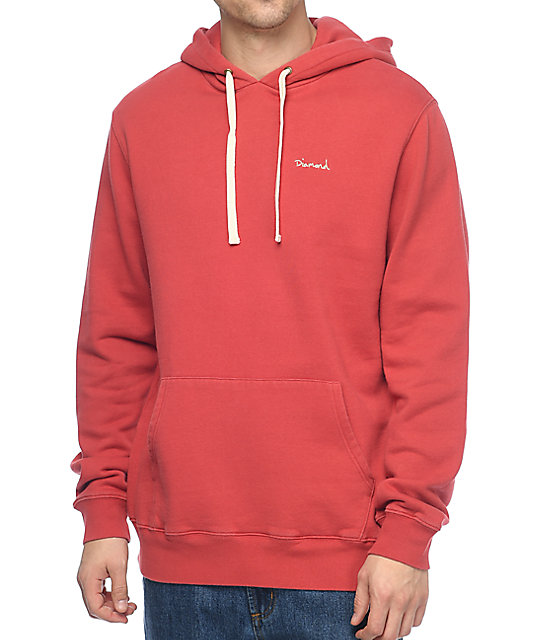Diamond Supply Co. Script Red Hoodie