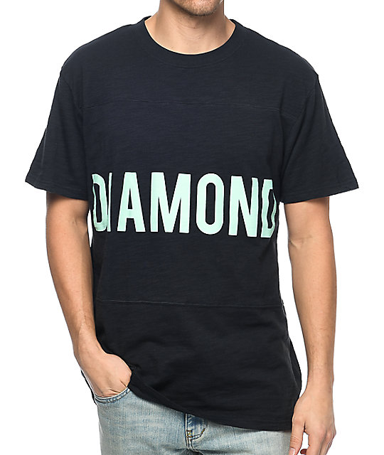 Diamond Supply Co. Speedway Navy Panel T-Shirt
