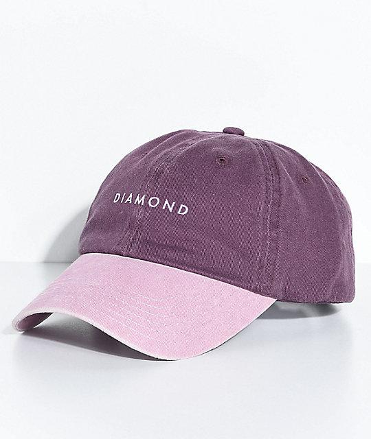 Diamond Supply Co. Stone Cut Purple Strapback Hat