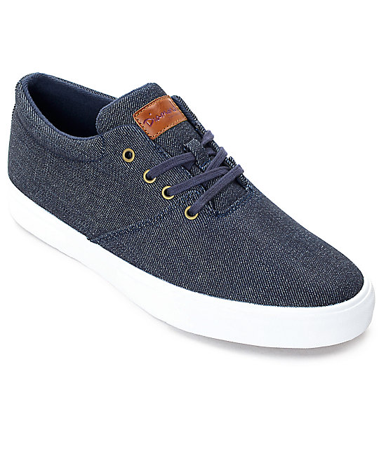 Diamond Supply Co. Torey Denim & White Skate Shoes - photo#7
