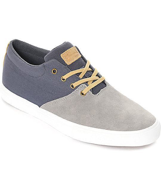 Diamond Supply Co. Torey Grey Suede & Blue Canvas Skate ... - photo#16