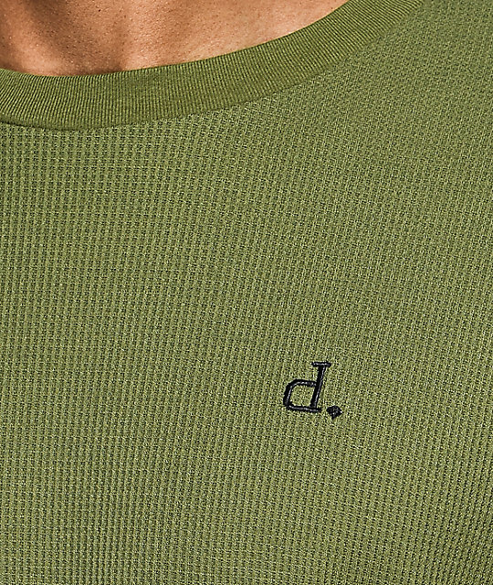 Diamond Supply Co. Un-Polo Olive Crew Neck Long Sleeve Thermal Shirt
