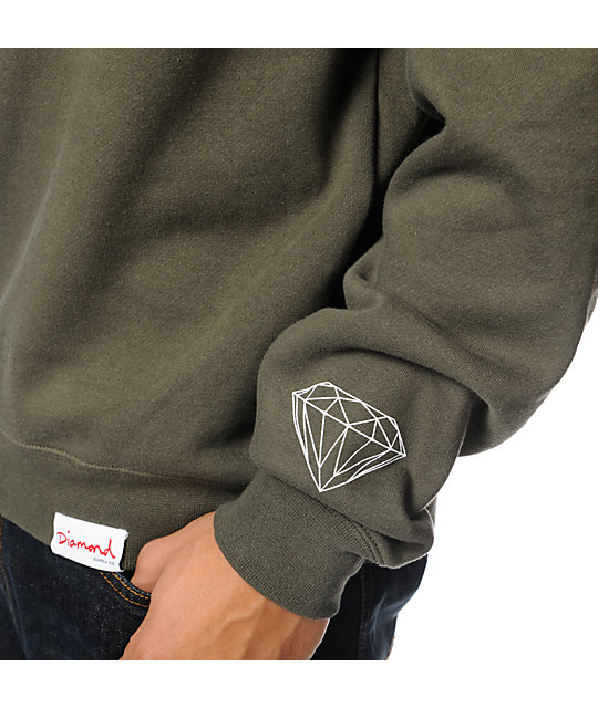 Diamond Supply Co. Unpolo Army Camo Crew Neck Sweatshirt