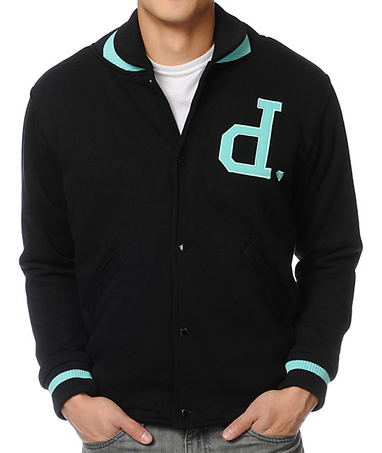 Diamond Supply Co. Unpolo Black Varsity Jacket