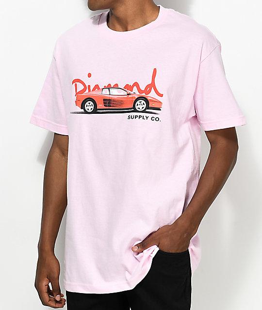 Diamond Supply Co. Vroom Vroom Light Pink T-Shirt