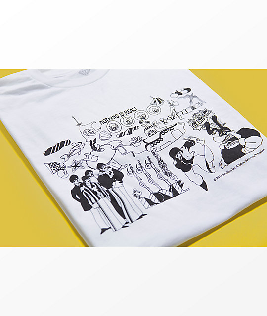 Diamond Supply Co. X The Beatles Nothing Is Real White T-Shirt