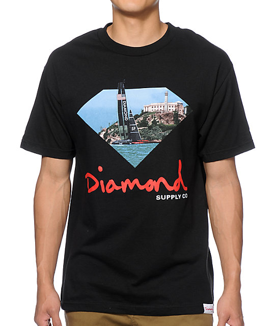 Pin skate brands image graphic code on pinterest for Wholesale diamond supply co shirts