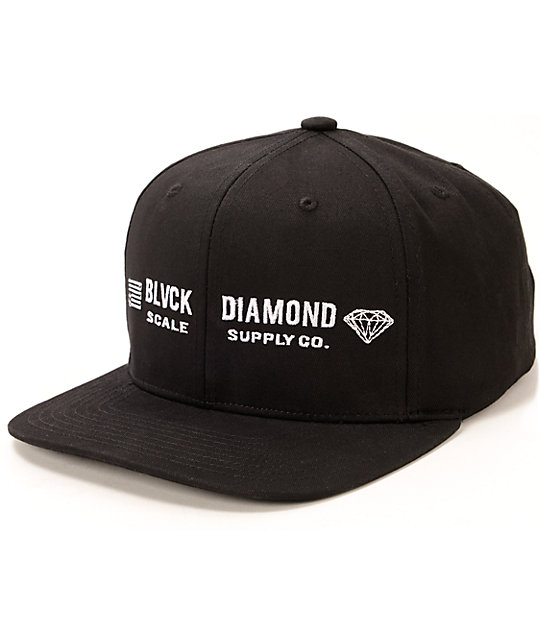 Diamond Supply Co X Black Scale Snapback Hat Zumiez