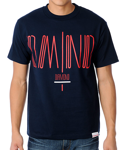 Diamond Supply Coda Navy T-Shirt