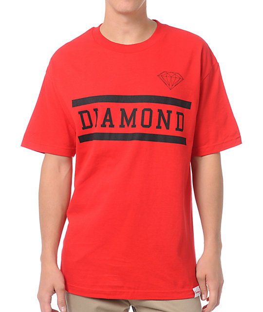 Diamond Supply Collegiate Red T-Shirt