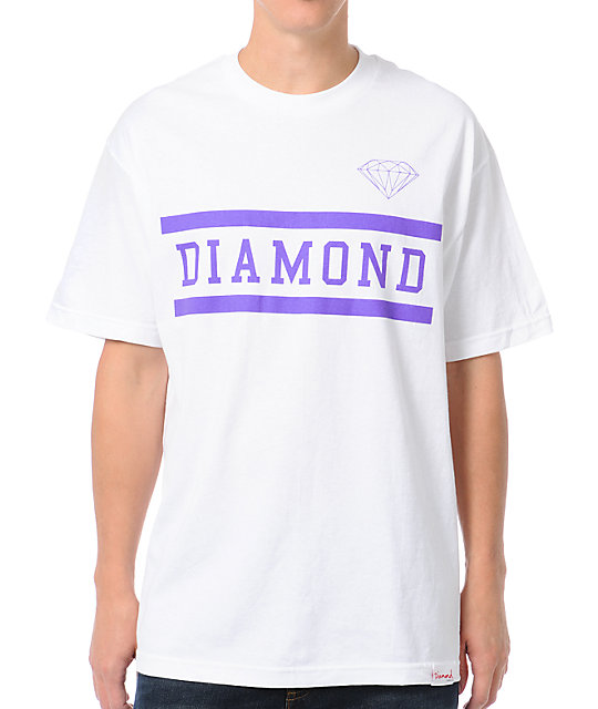 Diamond Supply Collegiate White T-Shirt