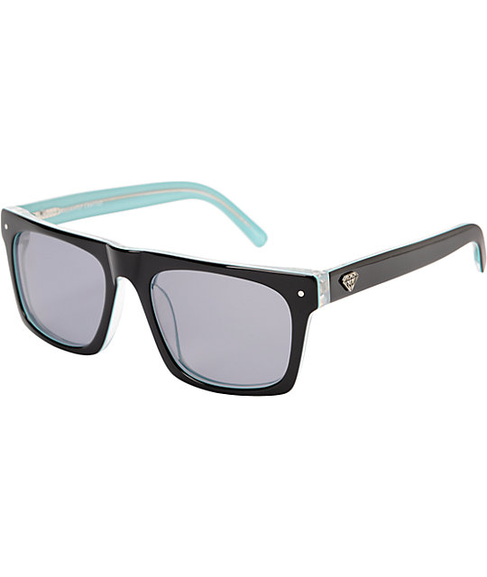 Diamond Supply Cordova Black & Teal Sunglasses