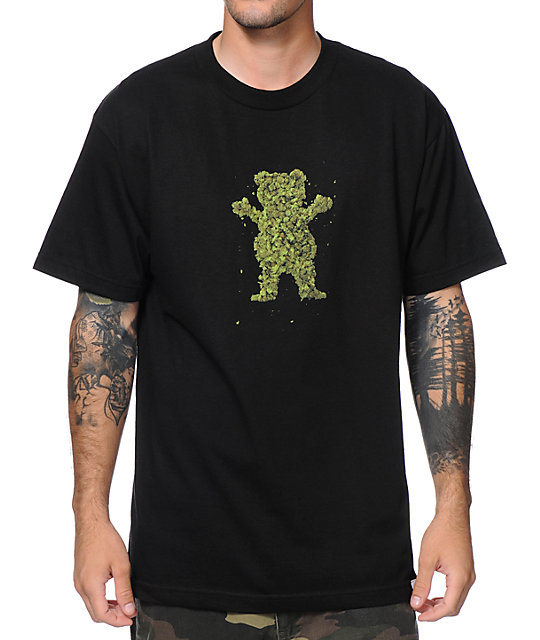 Diamond Supply x Grizzly Grip Tape Buds Black T-Shirt