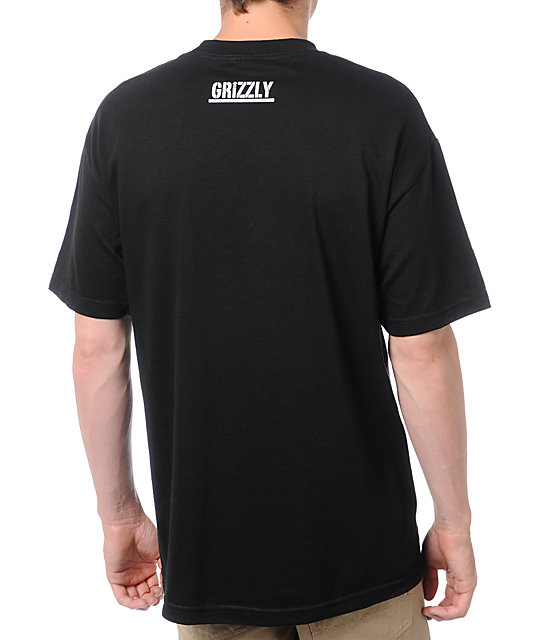Diamond Supply x Grizzly Grip Tape Diamond Grizzly Black T-Shirt