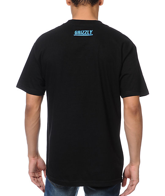 Diamond Supply x Grizzly Grip Tape T-Puds Grizzly Stamp Black T-Shirt
