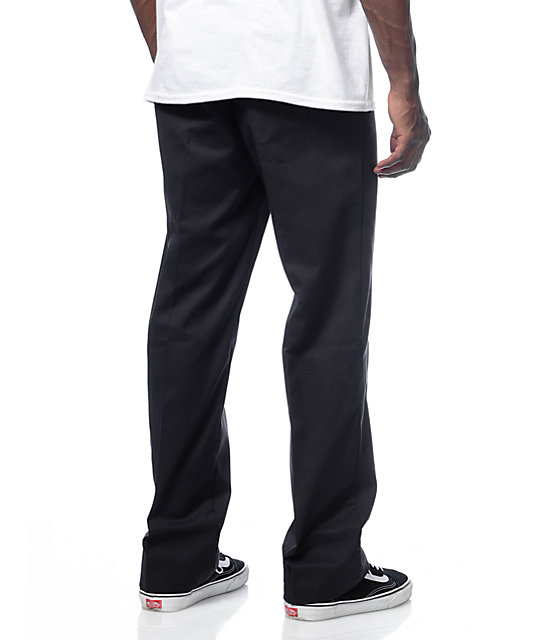 Dickies Regular Fit Flat Front Black Workpants