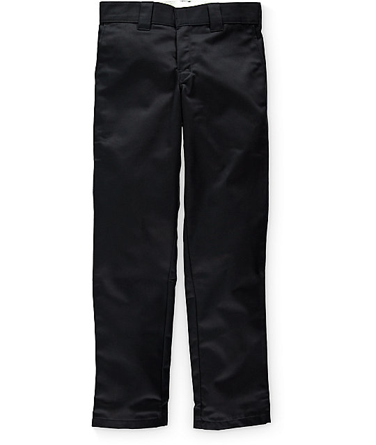 Dickies Ringspun Twill Slim Tapered Black Pants