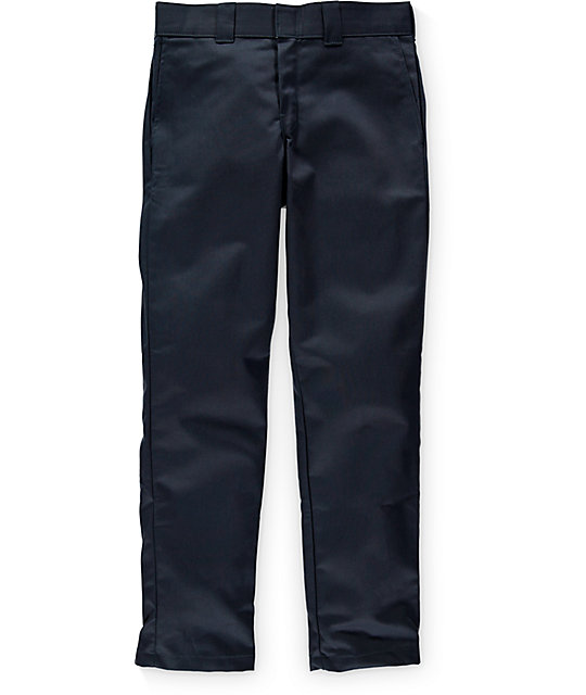 Dickies Ringspun Twill Slim Tapered Navy Pants