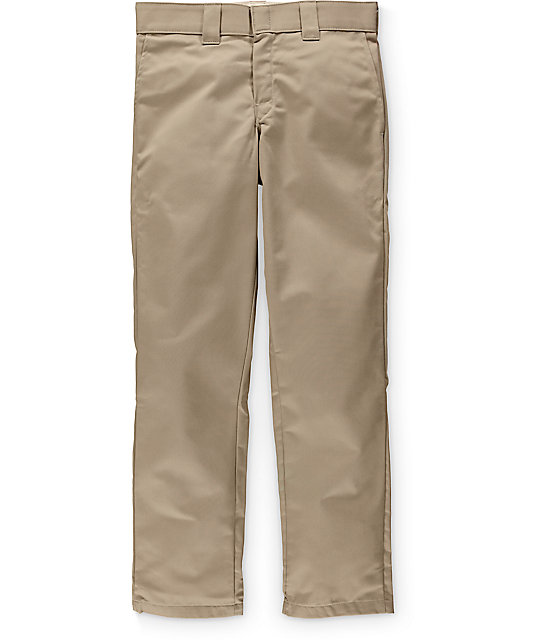Dickies Ringspun Twill Slim Tapered Sand Pants