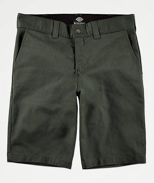 Oliva En Dickies Shorts Trajo Verde De nO0PwyvN8m