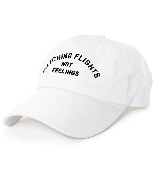Dimepiece Catching Flights Not Feelings Strapback White Hat