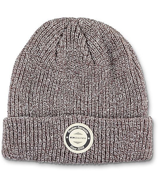 Discrete Touque Heather Brown Beanie