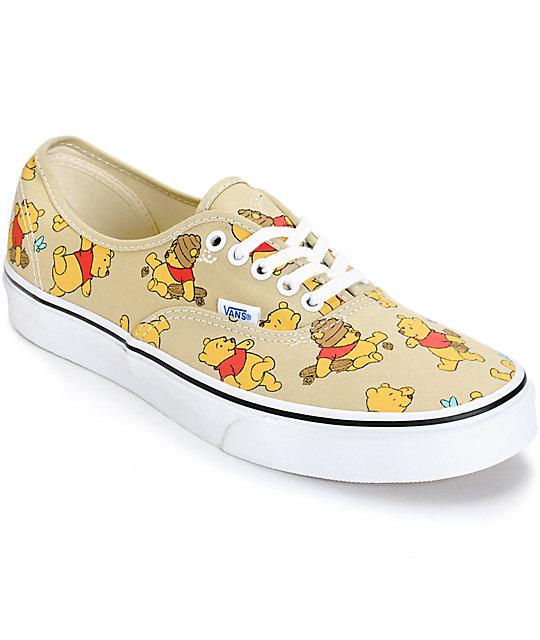 Disney x Vans Authentic Winnie The Pooh Skate Shoes (Mens)