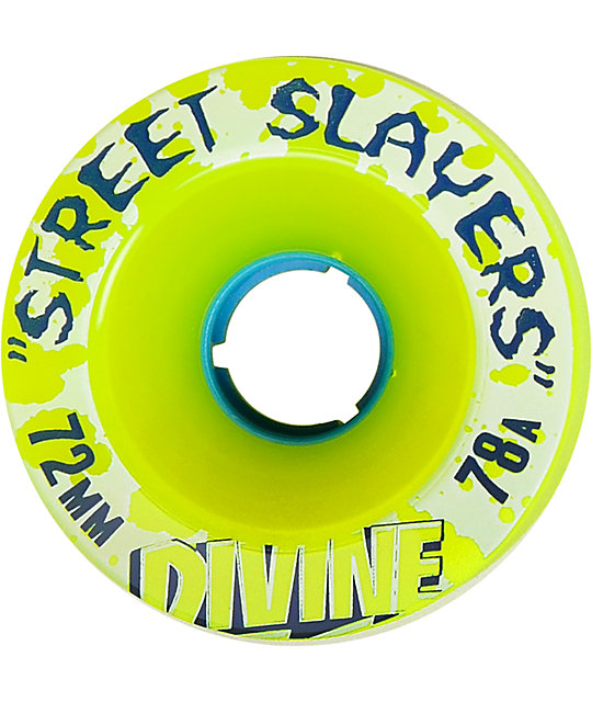 Divine Street Slayers 72mm Lime Green 78a Skateboard Wheels