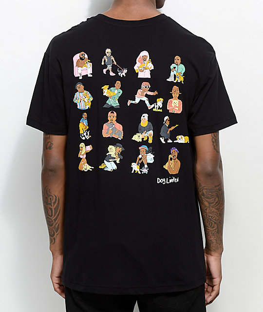 dog limited rappers with puppies black t shirt at zumiez pdp