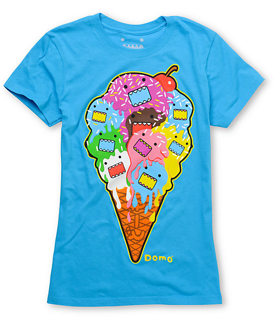 Domo Melted Aqua T-Shirt
