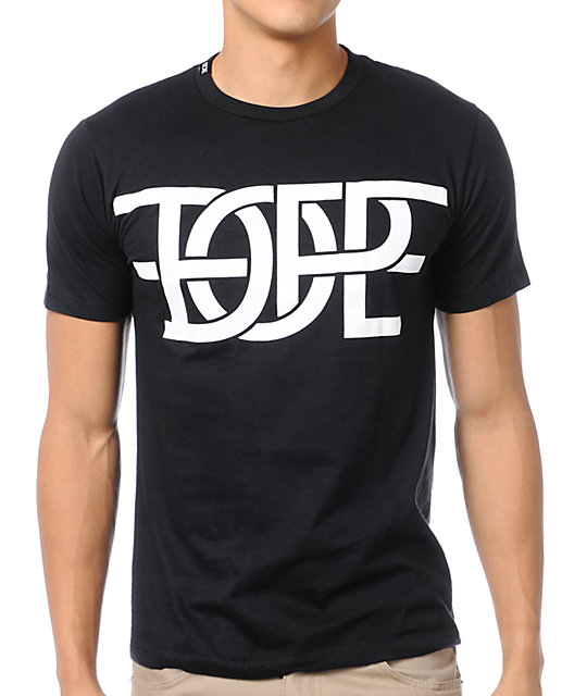 Dope Couture Interlock Black T-Shirt