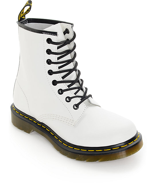 Marten 1460 White Smooth Boots